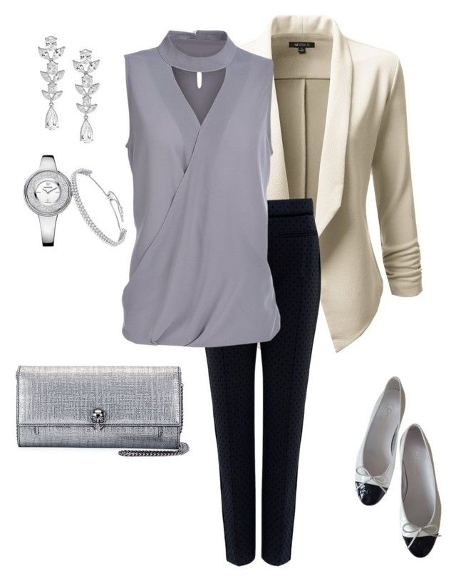 """""""Untitled#181"""" by bidlekerika on Polyvore featuring Doublju, Tanya Taylor, Alexander McQueen, Saks Fifth Avenue and Chanel"""