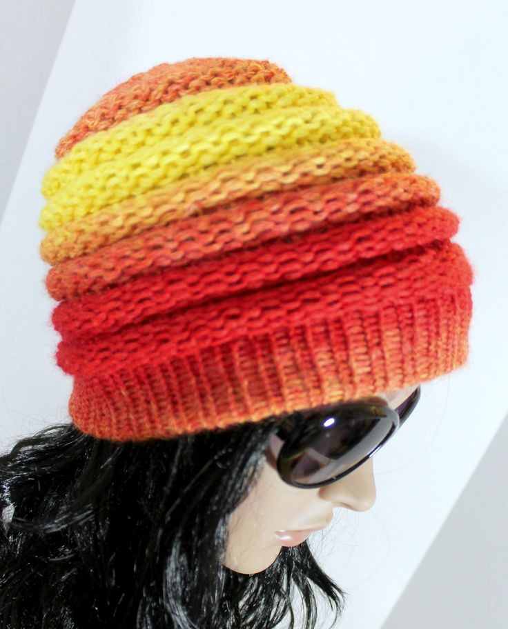 Loom Knitting Free Patterns : Ombre beanie pattern free loom knit hat for