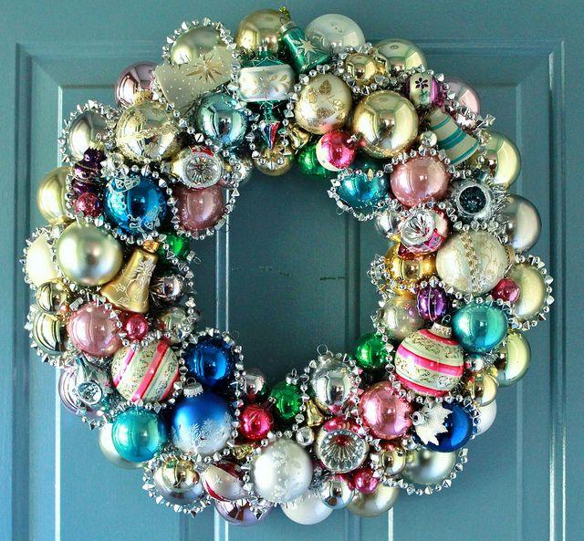 vintage christmas wreath | Flickr - Photo Sharing!