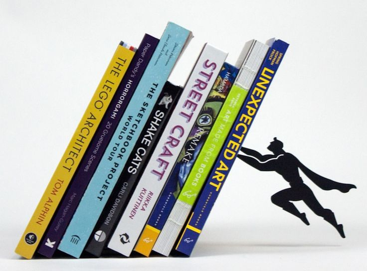 Superhero Bookshelves And Bookends Save The Day By Organizing Your Books