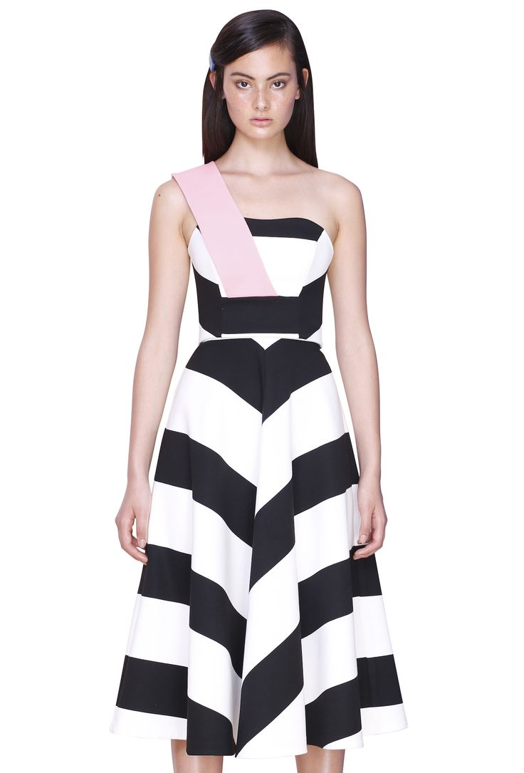 WIDE LINE BODICE & WIDE LINE STRIPE SKIRT #byjohnny #abstrACTION #SPRING2015 #AUSTRALIANFASHION