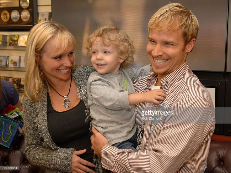 Leighann Littrell, Bailey and Brian Littrell during Brian Littrell Release Party for New Album 'Welcome Home' at LifeWay Christian Book Store - May 2, 2006 at LifeWay Christian Book Store in Buford, Georgia, United States.
