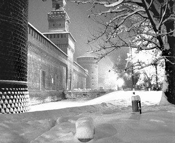 Il Castello- La grande nevicata del 1985 a Milano - Italia - Il Sole 24 ORE