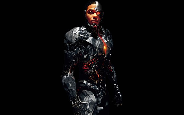 Download wallpapers Cyborg, 2018, Justice league, poster, new movies, Ray Fisher, American actor