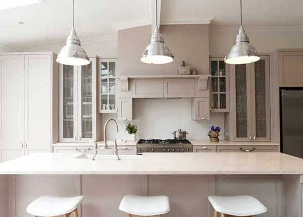 French Provincial Kitchens Love The Look Of 3 Lights Above Island Bench And