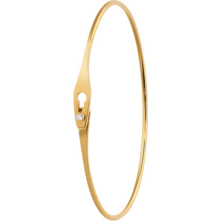 Dinh van Serrure Jonc bracelet yellow gold and diamond