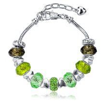 Мода кристалл бусины браслет для женщин , пару любовный стерлингового серебра - серебристо-ювелирные рождество красивые браслеты Feminina Sbr150017(China (Mainland))