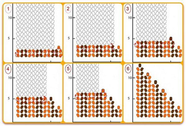 Как сделать Георгиевскую ленту из бисера Плетение бисером
