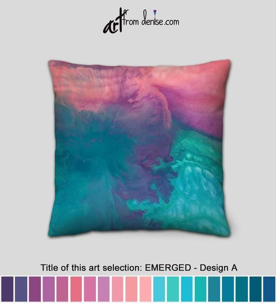 Coral Purple Turquoise And Teal Throw Pillows Colorful Etsy In 2020 Colorful Throw Pillows Teal Throw Pillows Purple Throw Pillows