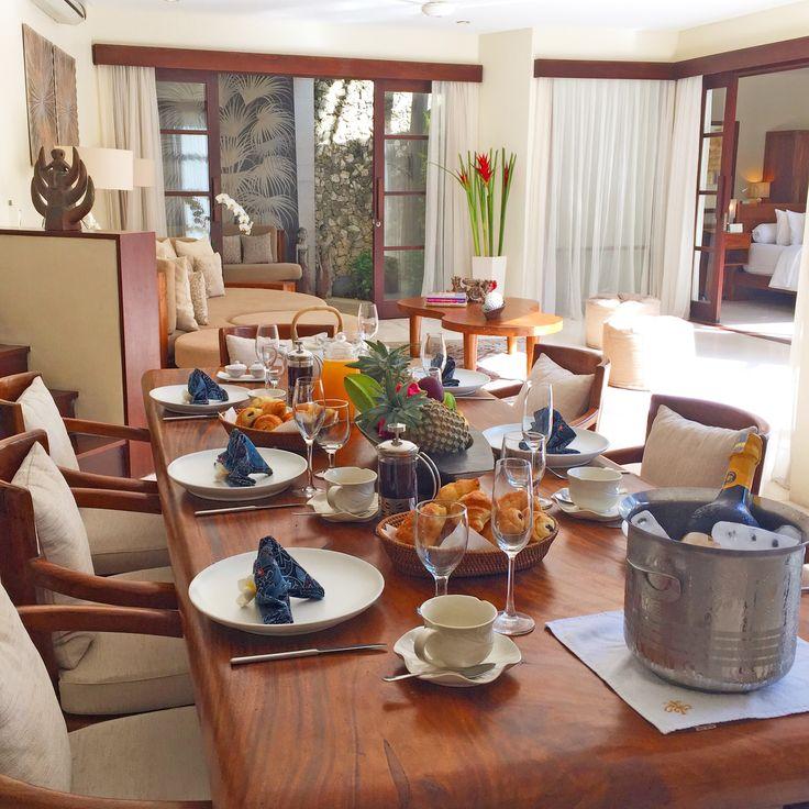 Our renowned breakfast at Kubu is always a guest favorite.  www.villakubu.com/oasis-restaurant.html #villakubu #goodmorning #breakfast #culinary #balifoodbible #seminyak #bali #theoasisrestaurant #paradise #travel