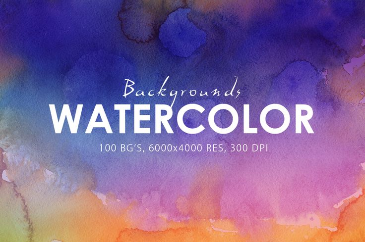 50% OFF Watercolor Backgrounds by ArtistMef on @creativemarket