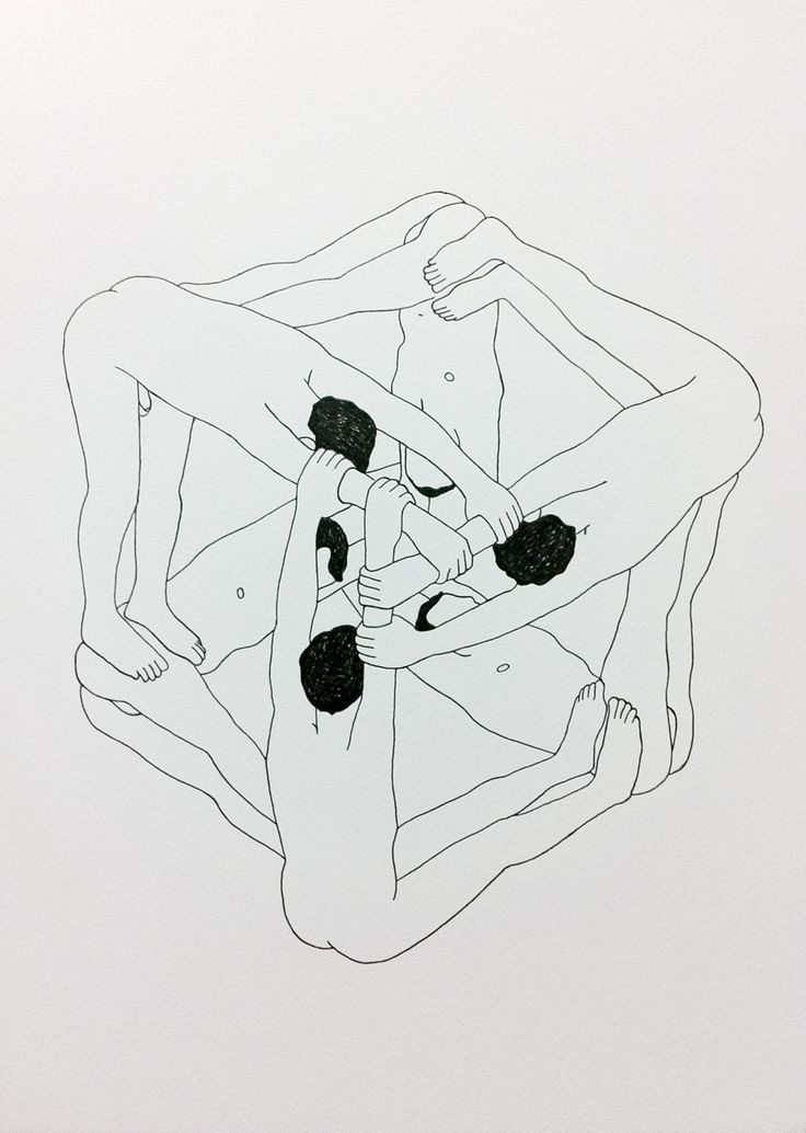 "franciscohurtz: "" o cubo / the cube nanquim sobre papel / nankeen on paper 2014 """