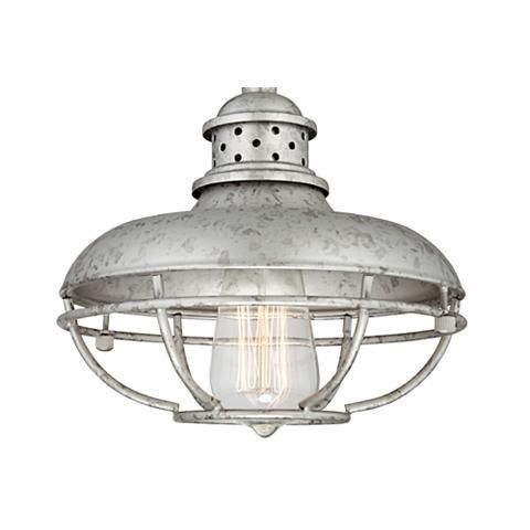 "Franklin Park 8 1/2"" Wide Galvanized Steel Mini Pendant - #8G591 
