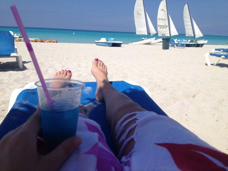 A free cocktail on the Caribbean ... Varadero, Cuba.
