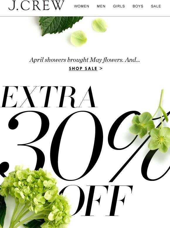Yay, May: Extra 30% off spring sale styles starts now - J.Crew