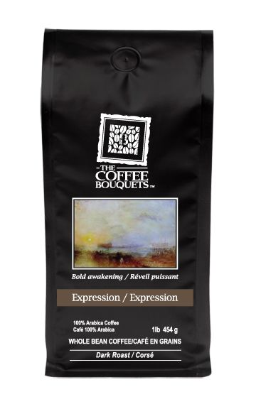 Signature Blend Dark Roast - Expression- Sumatra Based. The spirit of Latin passion dances freely with the earthy richness of Sumatra in this dark roast bouquet. Hints of cocoa and caramel mingle with the dense undertones of exotic fruit erupting on the palate with rich flavour and a subtle aftertaste. This blend is moderate in acidity levels.
