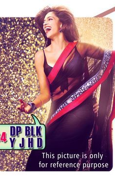 Indian bollywood actress deepika padukone saree at jawani diwani banner
