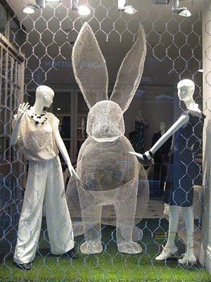 VM | Window Visual Merchandising | VM | Window Display | Chicken Wire We sell mannequins @ www.mannequinmadness.com