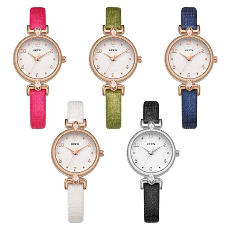 KEZZI 1694 Fashion Women Quartz Watch Elegant Rhinestones Ladies Wrist Watch at Banggood