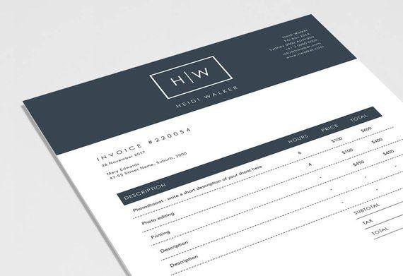 Photographer Invoice Template Invoice Design Receipt Etsy Invoice Design Invoice Template Receipt Template