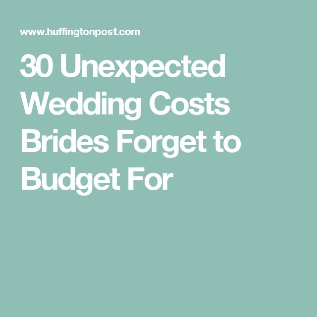 planning wedding budget unexpected costs
