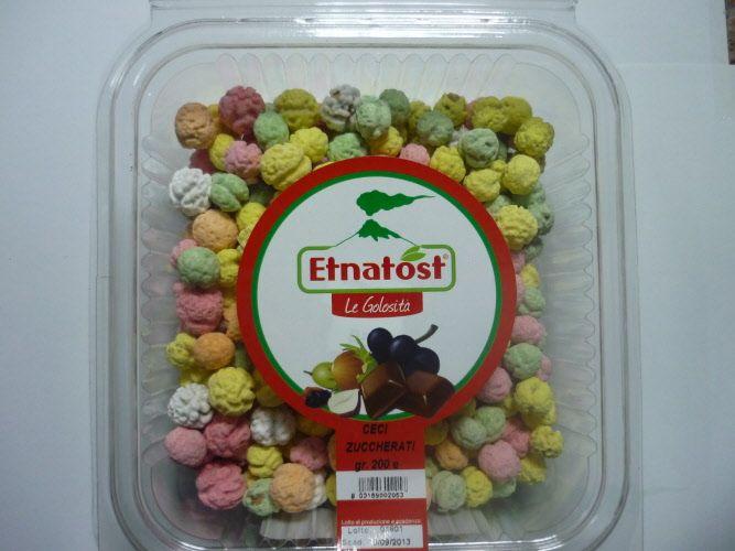 Ceci tostati zuccherati da gr. 250 - Ceci tostati e zuccherati per palati dolci da soddisfare.