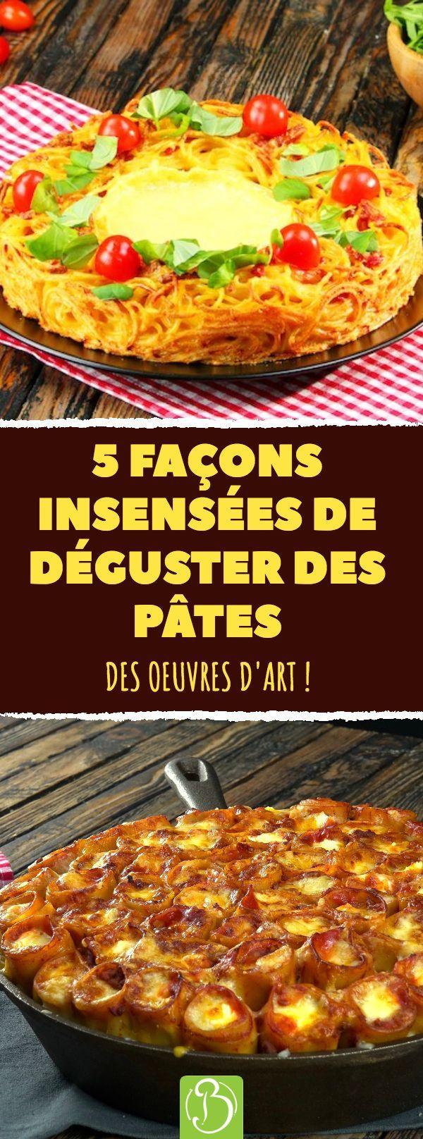 5 façons inutiles de déguster des pâtes. Des oeuvres d'art! # Pâtes # Idées #Recipe #Carbonara …   – Einfache Gerichte