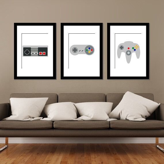 A personal favourite from my Etsy shop https://www.etsy.com/au/listing/237506044/nintendo-controllers-modern-art-prints
