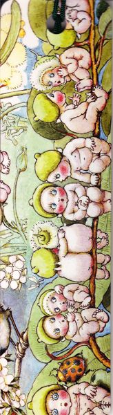 Bookmark Gumnut babies with tassle