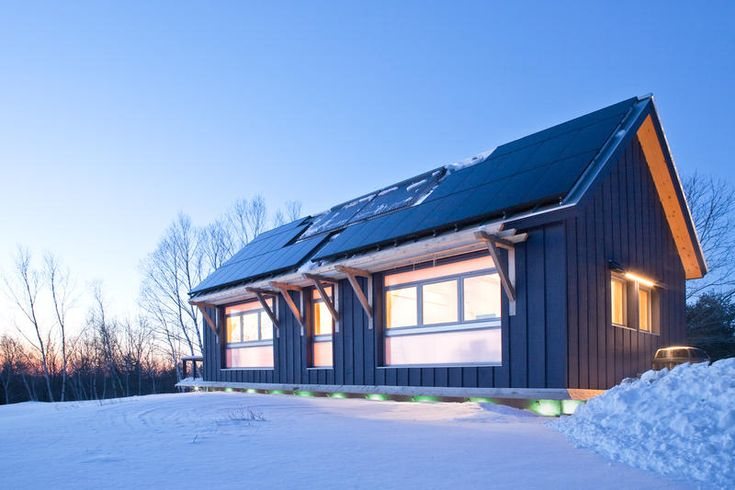 Photos and drawings brightbuilt barn a super green for Zero energy homes