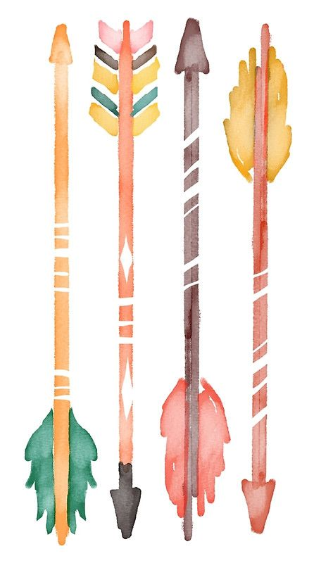 Watercolor Arrows by junkydotcom