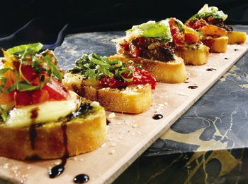 Bruschetta at Brio Tuscan Grille