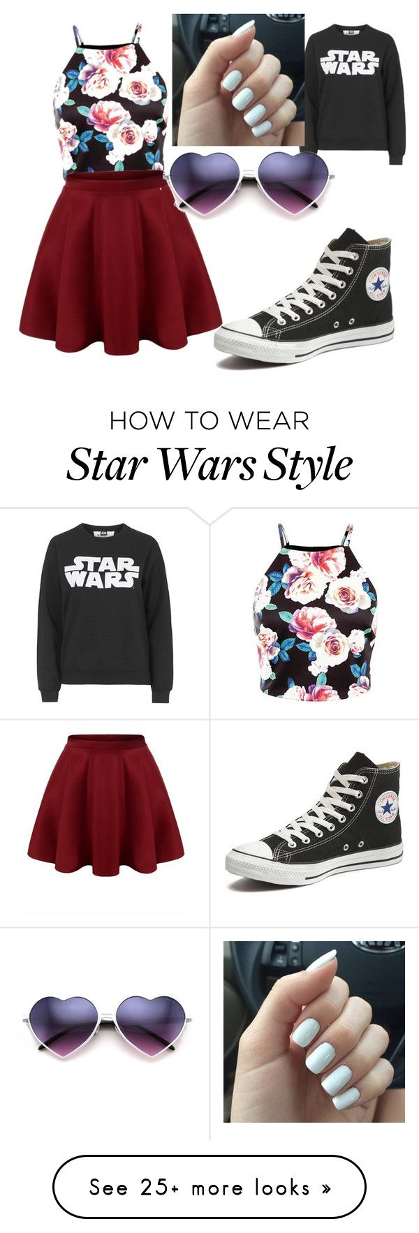 """Movie night"" by makeupdiva105 on Polyvore featuring Tee and Cake, Converse, women's clothing, women's fashion, women, female, woman, misses and juniors"