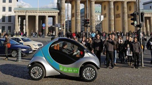 The Hiriko folding electric car has been chosen for a car-sharing program in Berlin.