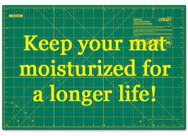 Great tip on extending your mat's life. Tips to keep your mat moisturized; and to maybe straighten a warped mat....maybe.