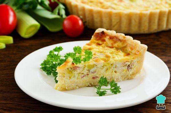 Receta de Quiche de jamón, puerro y queso con Thermomix
