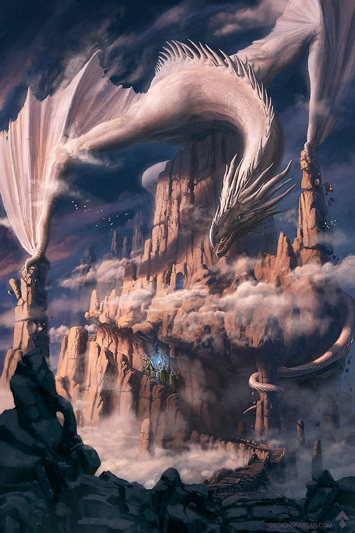 Les Futuriales 2015 - offical poster by Gaétan WELTZER | Fantasy | 2D | CGSociety  http://designspartan.cgsociety.org/art/fantasy-photoshop-adventure-magician-dragon-concept-art-mountains-epic-les-futuriales-2015-offical-poster-2d-1271178