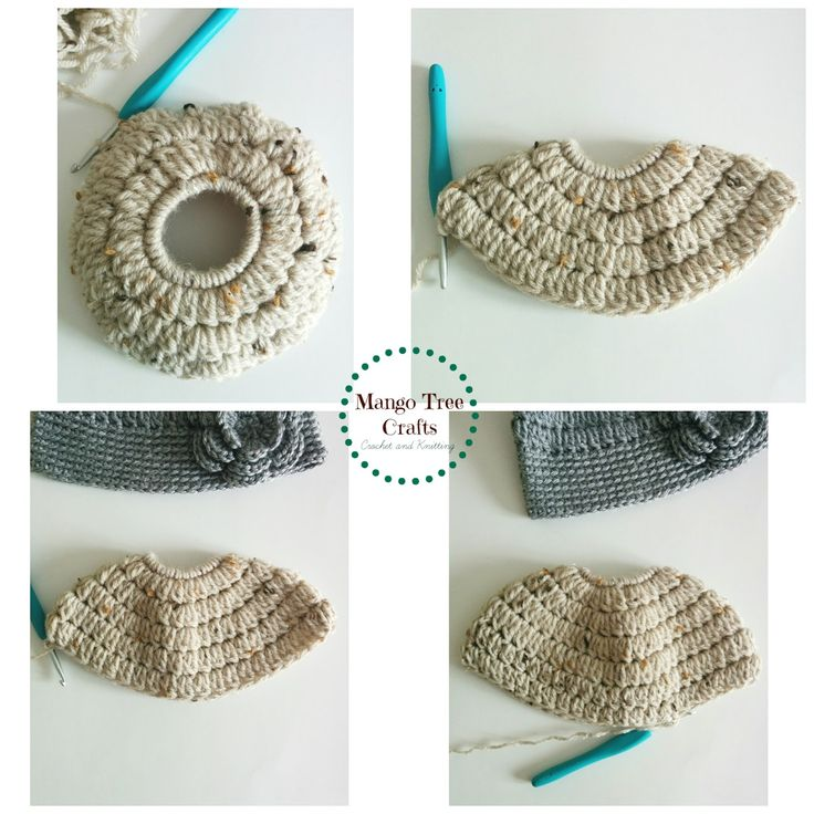 """Messy Bun Hat Free Crochet Pattern Materials used: ⦁ Hair tie about 2"""" in diameter ⦁ Worsted weight yarn (I used Bernat Wool..."""