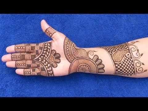 Lovely Mehndi Design for Hands | New Arabic Henna Mehndi Design for Hands #179 @ jaipurthepinkcity - YouTube