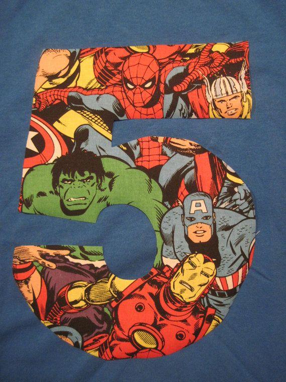 Great idea- super hero fabric for the birthday boy's cape!