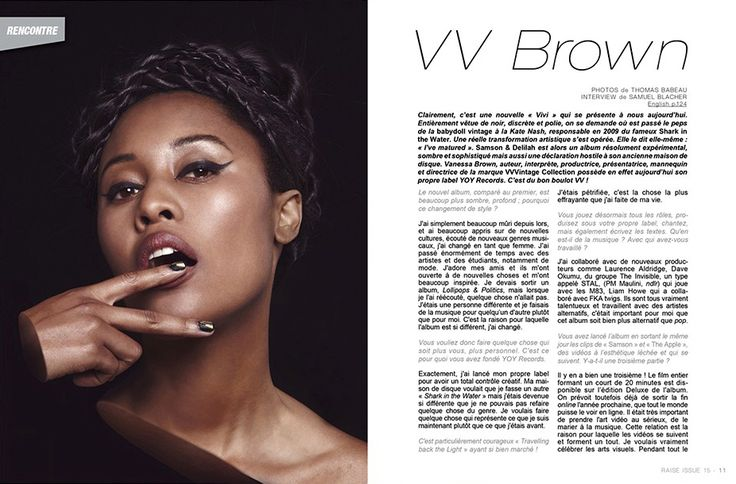 Raise Magazine Issue #15 THE BODY ISSUE with VV Brown  #VVBrown