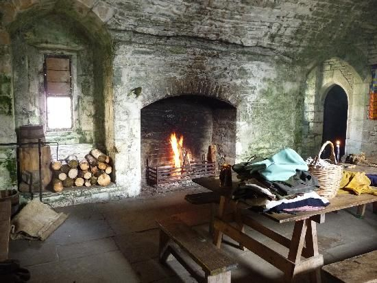 Bolton Castle: Yes, they really do light the fires!