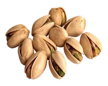 Californian Pistachios provide high-energy nutrients. Each one-ounce serving of shelled pistachios (49 kernels) offers 300 milligrams of potassium, six grams of protein, nine grams of total carbohydrates, and three grams of dietary fiber.