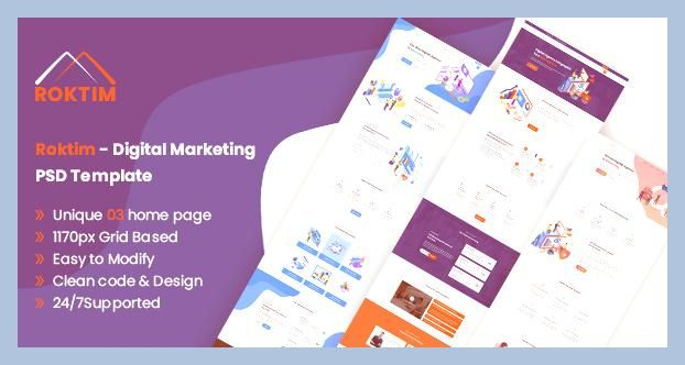 Bootstrap Digital Marketing Envato Free Nulled Theme Html5 Marketing Online Marketing Page Ran Psd Templates Digital Marketing Design Digital Marketing