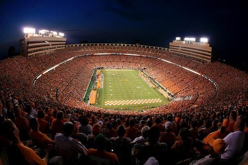 Neyland Stadium - Home of the University of Tennessee Volunteers. Knoxville, TN. One of the Seven Wonders of the World... :)