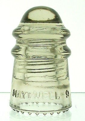 CD 106 MAYDWELL - 9 Antique Glass Insulator, NICE GINGERALE!!