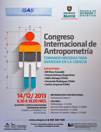 No te pierdas el Congreso Internacional de Antropometría. Inscríbete! +INFO: maria.jara@umayor.cl #nutrición   #dietética   #antropometría   #umayor   #huechuraba