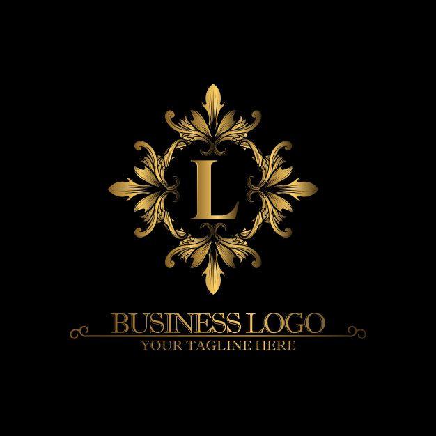Luxury Gold Logo with the Letter L Premium Vector