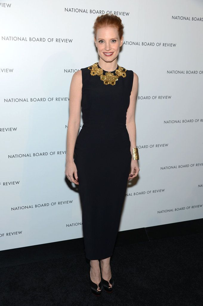 Love Jessica Chastain in Alexander McQueen at the National Board of Review Awards Gala