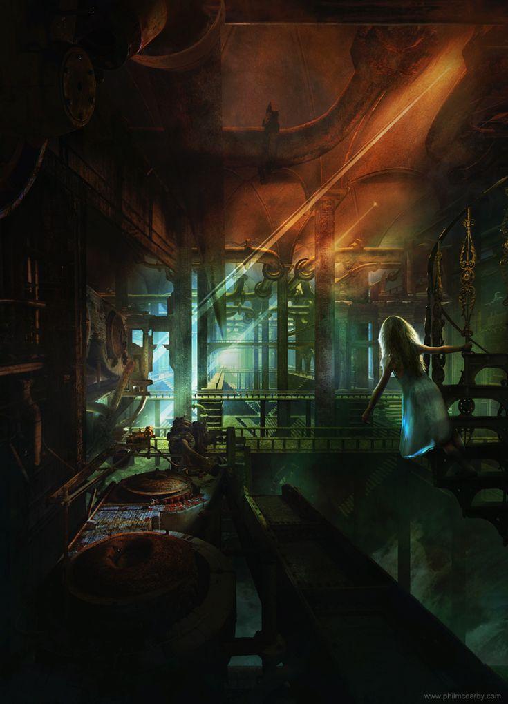 Una vida en la subrealidad.  Ilustración: Phil McDarby http://www.philmcdarby.com/index.php/digital_art/detail/auri/